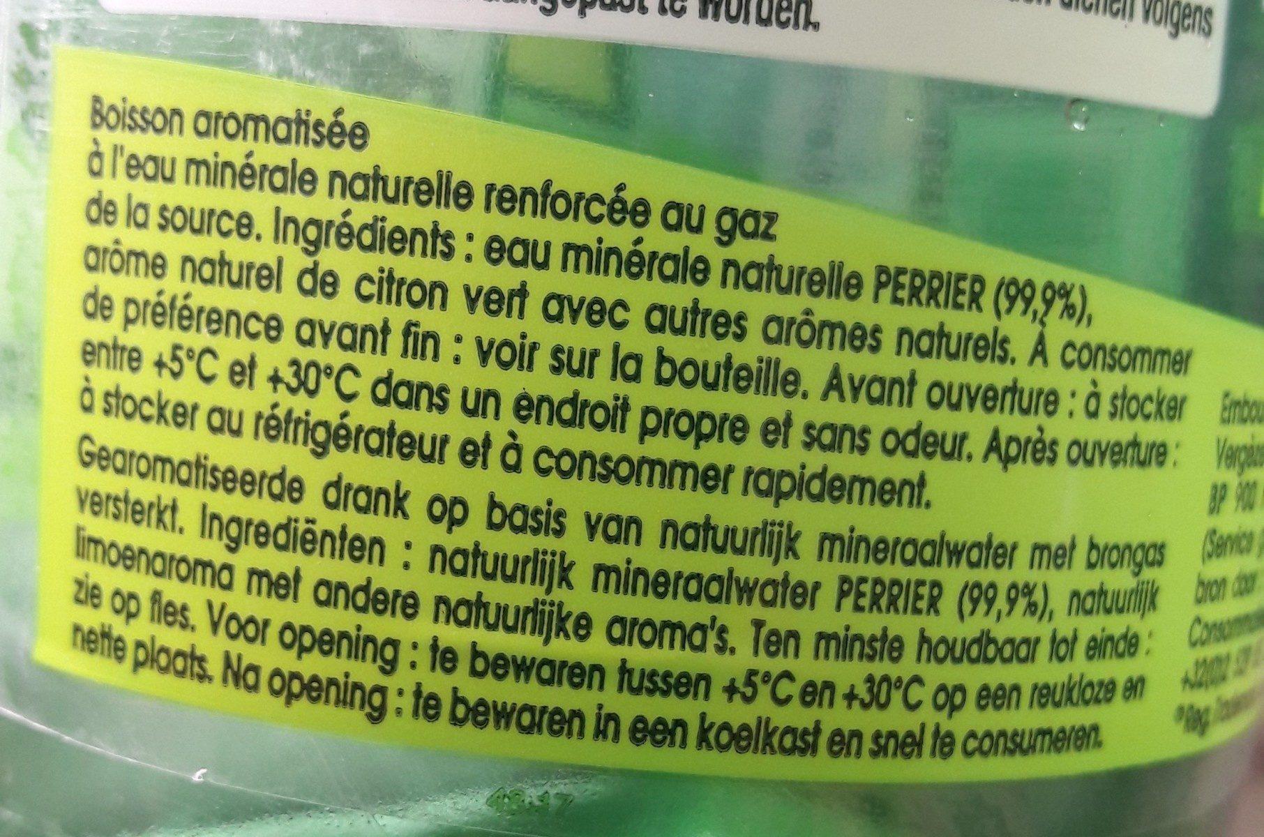 Perrier citron vert - Ingredients
