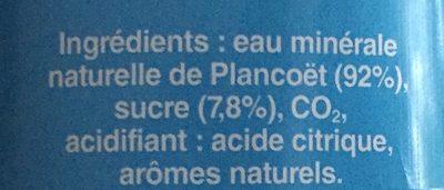 Limonade PLANCOET, bouteille de 1,5 litre - Ingrédients - fr