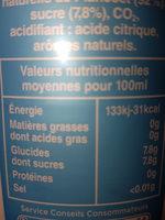 Limonade PLANCOET, bouteille de 1,5 litre - Informations nutritionnelles - fr
