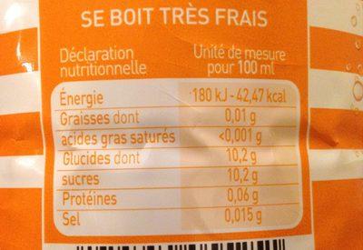 Plancoet Bizh Orange - Informations nutritionnelles - fr