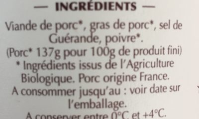Rillettes Du Mans - Ingrédients - fr