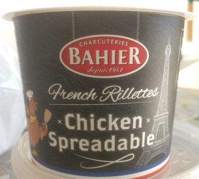 French Rillettes chicken spreadable - Produit