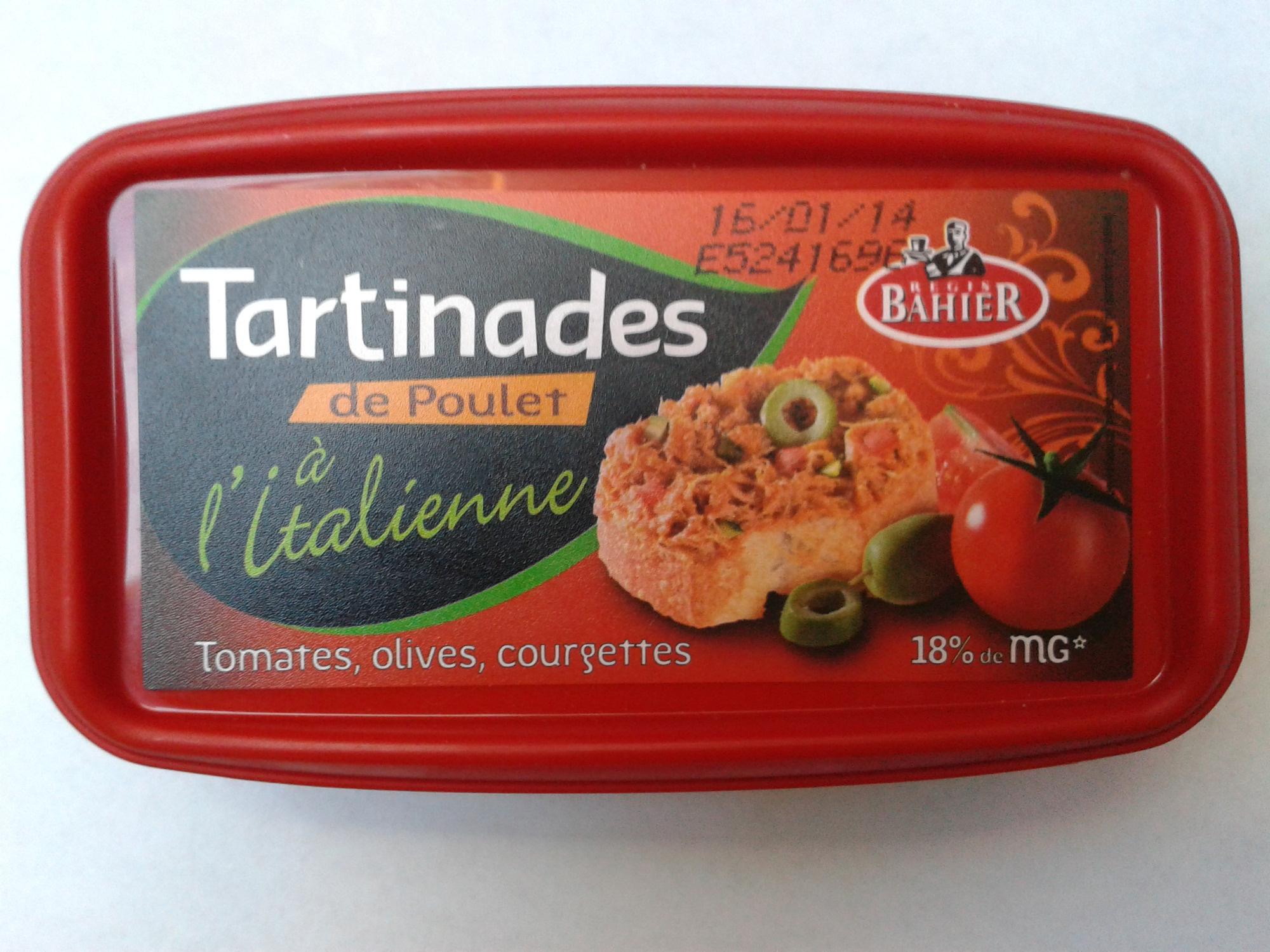 Tartinades de Poulet à l'Italienne (18 % MG) - Produit - fr