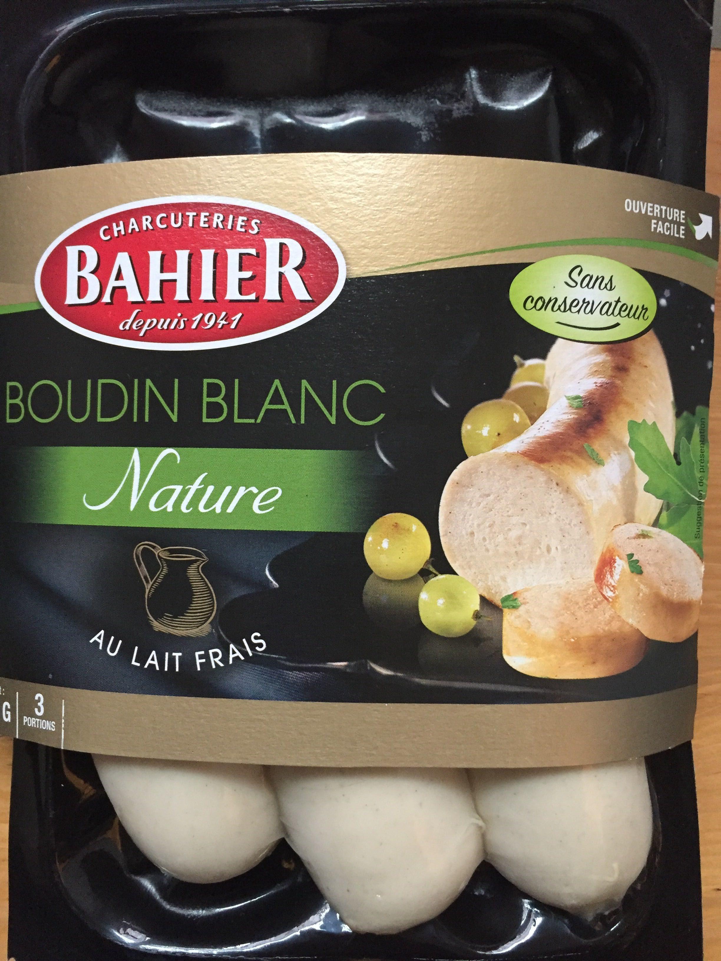 Boudin blanc nature au lait frais - Produit