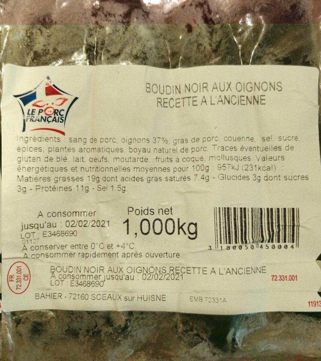 Boudin noir aux oignons recette à l'ancienne - Produit - fr
