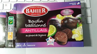 Boudin traditionnel antillais - Produit - fr