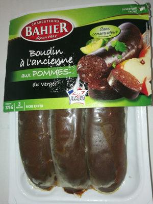 Bahier 3 Boudins Noirs Pommes 375G - Produit - fr