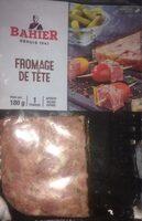 Bahier, Fromage de tête aux cornichons, la barquette de 180 g - Product - fr