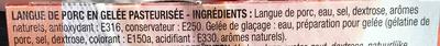 Langue de Porc en Gelée (3 Tranches) - Ingredients - fr