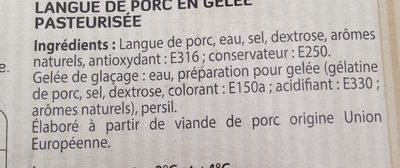Langue de porc en gelée - Ingrédients - fr