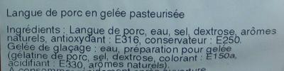 Langontine - Ingrédients