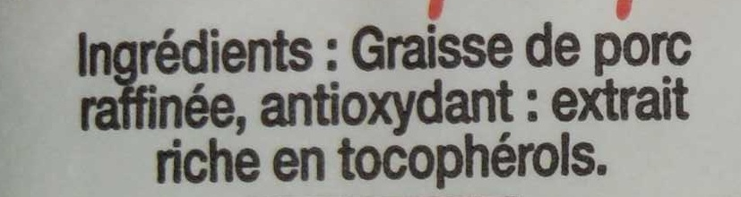 Saindoux pur porc - Ingredients - fr