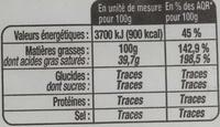 Saindoux pur porc - Nutrition facts - fr