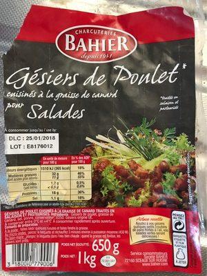 Gesiers de poulet - Produit - fr