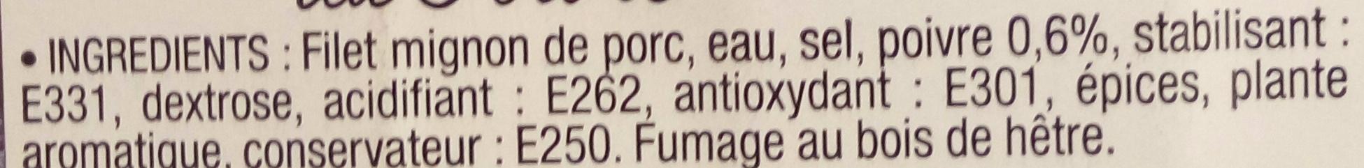 Filet Mignon Fumé au Poivre - Ingrédients - fr