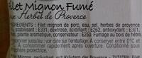 Filet mignon fumé aux Herbes de Provence - Ingrédients - fr
