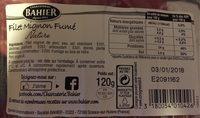 Bahier filet mignon fumé nature - Informations nutritionnelles - fr
