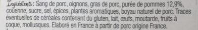 Boudin à l'ancienne aux pommes du verger - Ingrédients - fr