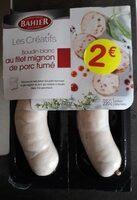 Boudin blanc au filet mignon de porc fumé - Produit - fr
