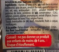 Boudins Cocktail - Ingrédients - fr