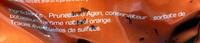 Le Moelleux Prune Orange - Ingrédients - fr