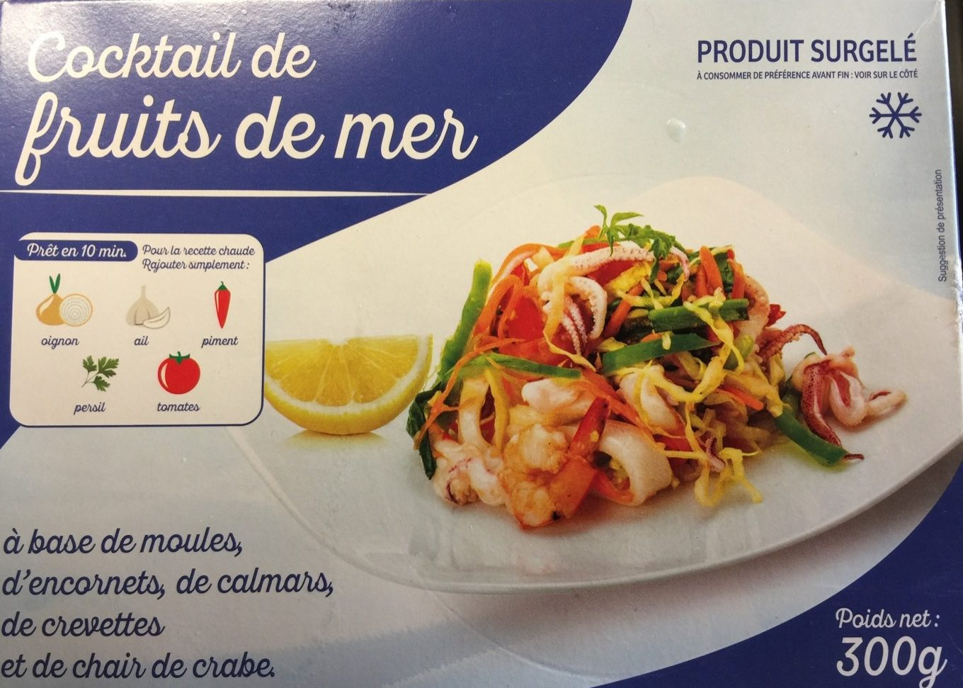Cocktail de fruits de mer auchan - Cuisiner cocktail de fruits de mer surgele ...