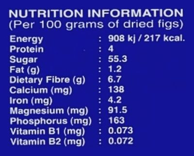 Figues layer - Nutrition facts