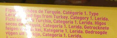 Figues séchées 500GR DOMINO - Ingrediënten - fr