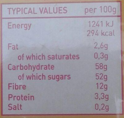 Figues séchées 500GR DOMINO - Voedingswaarden - fr