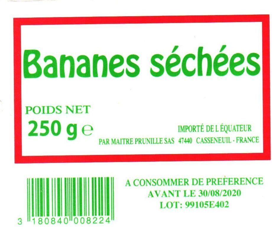 Bananes Séchées - Ingredients