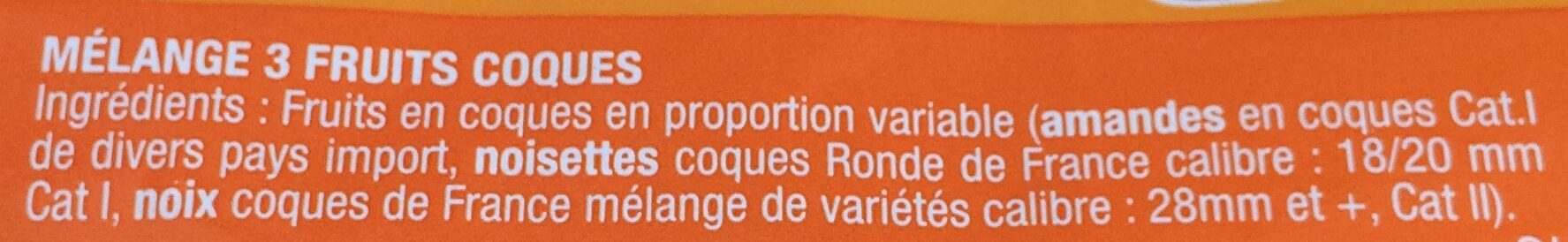 Melange 3 Coques - Ingrédients - fr