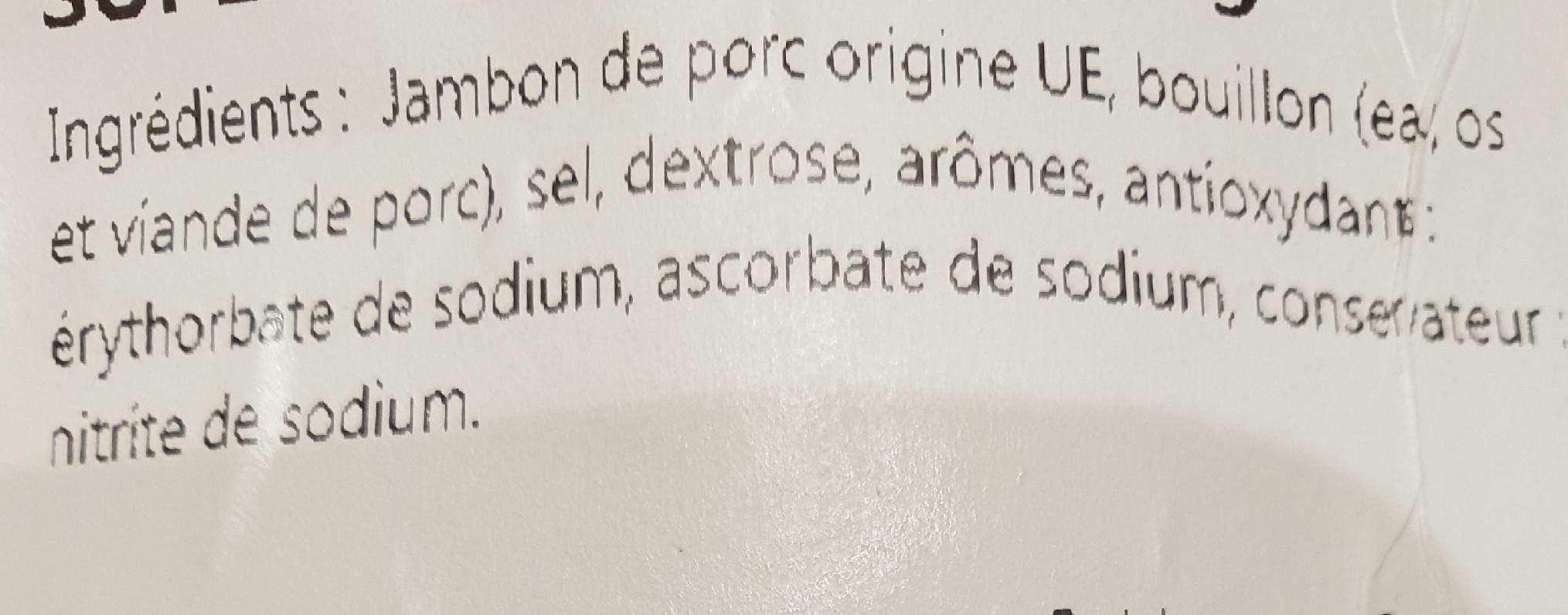 Jambon cuit supérieur 1 kg - Ingrédients