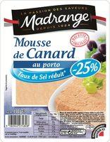 Mousse de Canard au Porto (Taux de Sel réduit - 25 %) - Produit