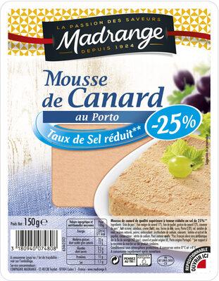 Mousse de Canard au Porto (Taux de Sel réduit - 25 %) - Product - fr