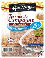 Terrine de Campagne dorée au four taux de sel réduit* (-25%) - Produkt - fr