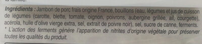 Mon Jambon Blanc VPF 4tr - Ingredients