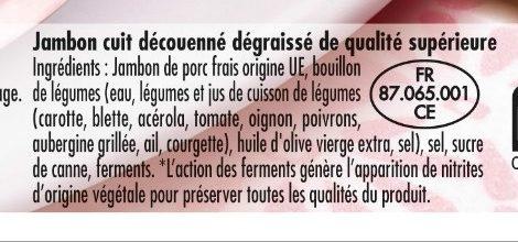 Mon Jambon Blanc 6 tr - Ingredients