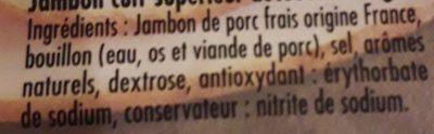 Jambon à la Broche Sans Couenne - Ingredients