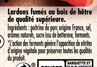 Mes Lardons Fumés VPF - Ingredients