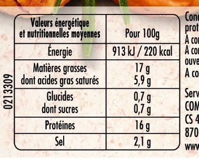 Mes Allumettes fumées - Nutrition facts
