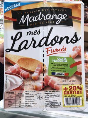 Mes Lardons fumés (+20% gratuit) - Produit - fr