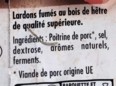Mes Lardons fumés (+20% gratuit) - Ingrédients - fr