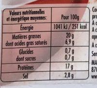 Mes Lardons fumés (+20% gratuit) - Informations nutritionnelles - fr