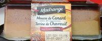 Mousse de Canard & Terrine au Chevreuil aux Cranberries - Produit