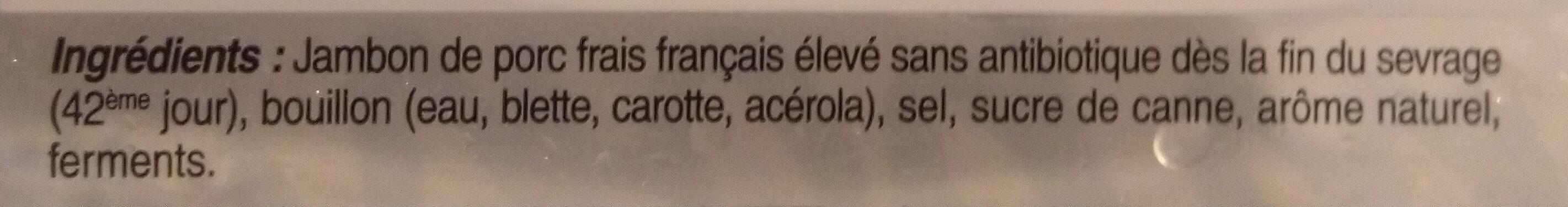 Mon Jambon Supérieur à l'Étouffée - Ingredients - fr