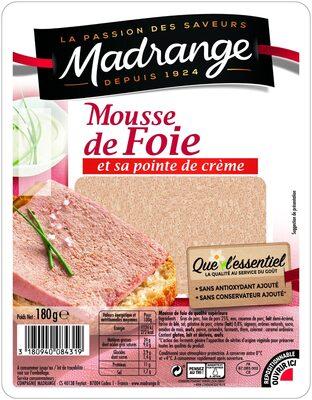 Mousse de foie et sa pointe de crème - Produit - fr