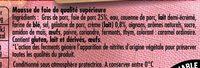 Mousse de foie et sa pointe de crème - Ingrédients - fr