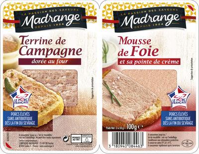 Terrine de Campagne et Mousse de Foie - Product - fr