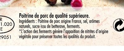 Mes Tranches de poitrine Nature - Ingredients - fr
