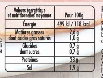 Mon Rôti de porc - Porcs élevés sans antibiotique dès la fin du sevrage - Nutrition facts